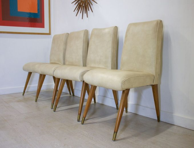 Mid Century Retro Maple and Co Dining Chairs G W Evans 0
