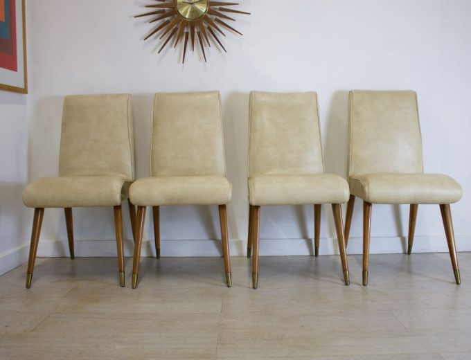 Mid Century Retro Maple and Co Dining Chairs G W Evans 1