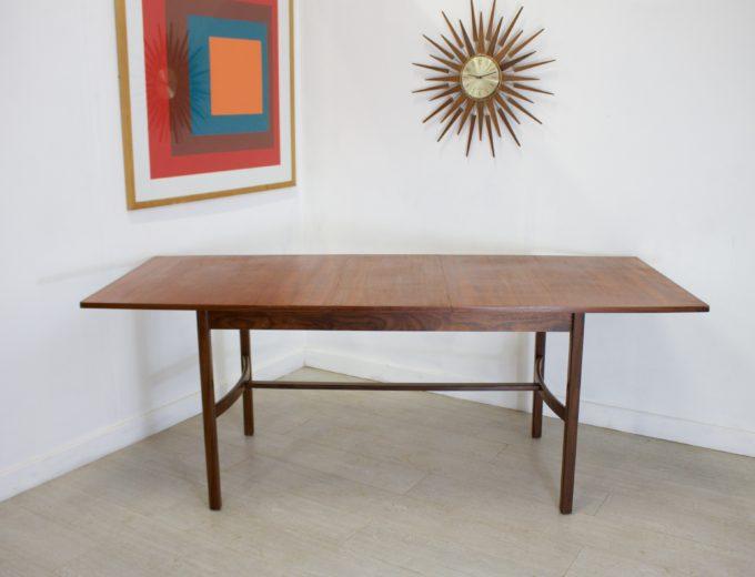 Mid Century Teak Extending Dining Table 1