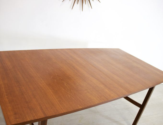 Mid Century Teak Extending Dining Table 5