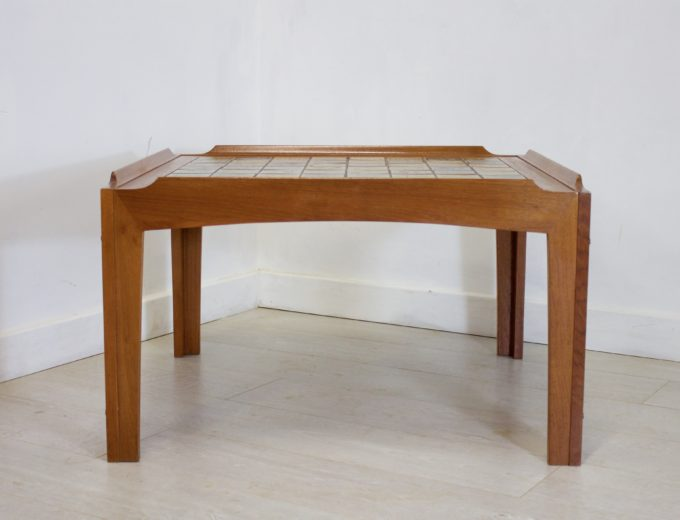 Mid Century Retro Teak Tiled Trioh Danish Coffee Table REF#0043 0