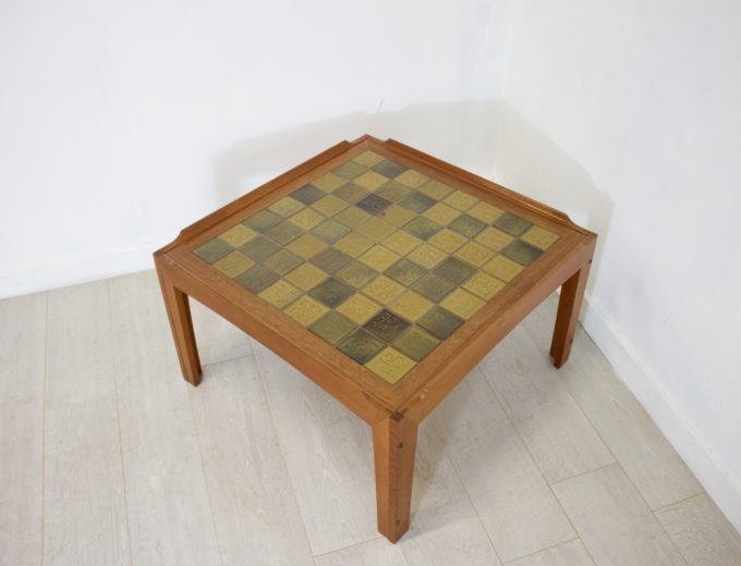 Mid Century Retro Teak Tiled Trioh Danish Coffee Table REF#0043 1