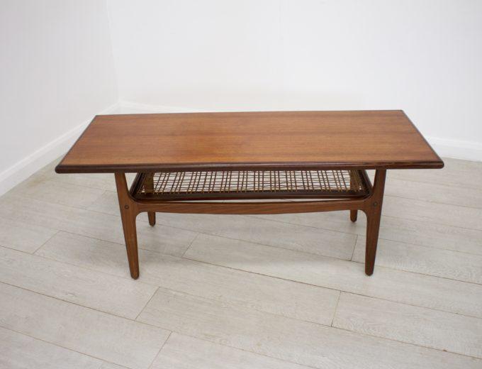 Mid Century Retro Danish Teak Coffee Table by Trioh Mobler #0238 0