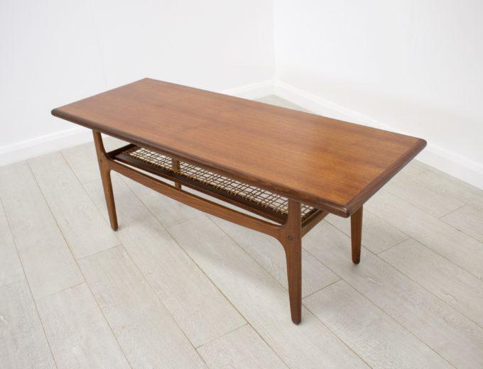 Mid Century Retro Danish Teak Coffee Table by Trioh Mobler #0238 1