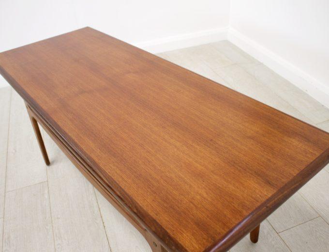 Mid Century Retro Danish Teak Coffee Table by Trioh Mobler #0238 2
