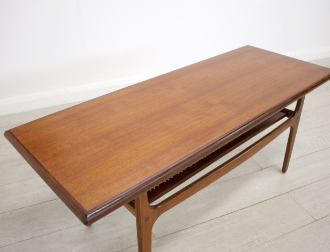 Mid Century Retro Danish Teak Coffee Table by Trioh Mobler #0238 3
