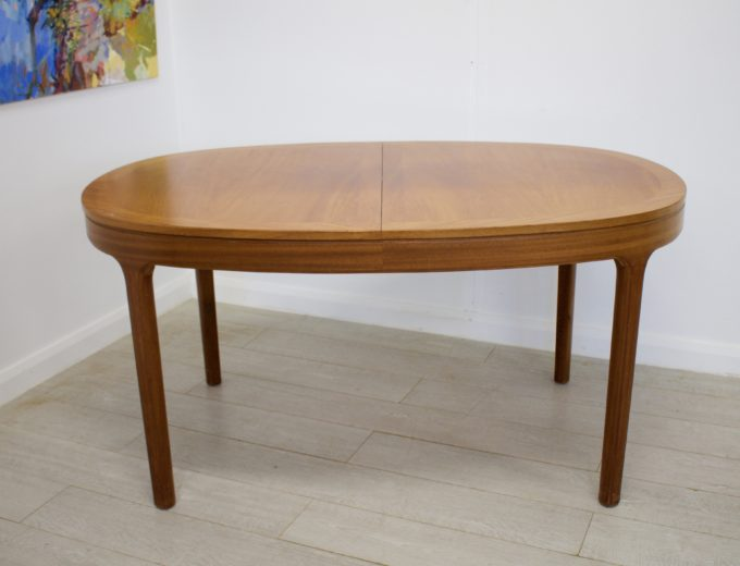 Mid Century Teak Extending Dining Table by Nathan #0272 0