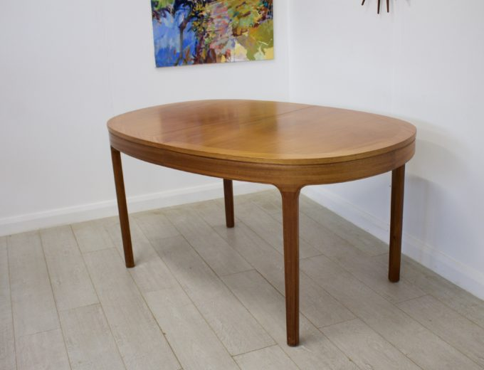 Mid Century Teak Extending Dining Table by Nathan #0272 2
