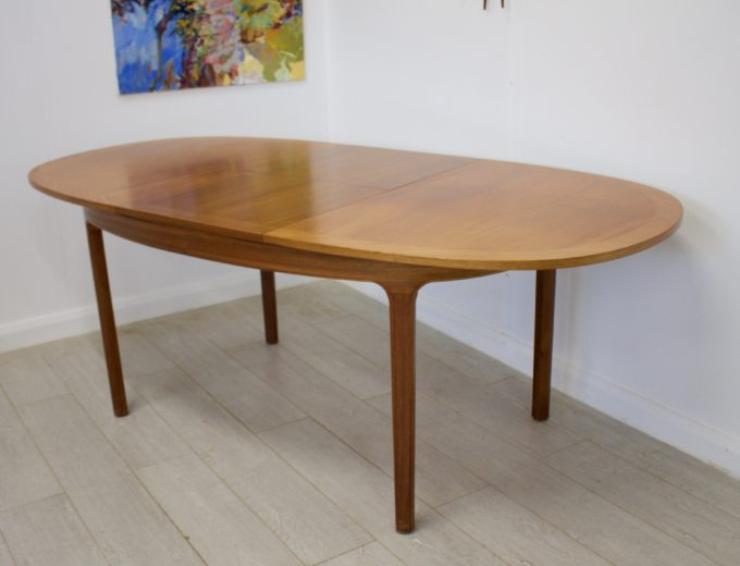 Mid Century Teak Extending Dining Table by Nathan #0272 4