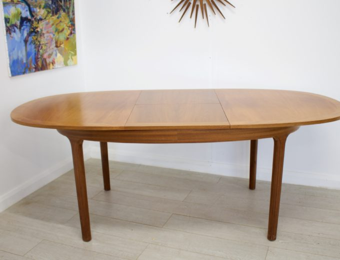 Mid Century Teak Extending Dining Table by Nathan #0272 5
