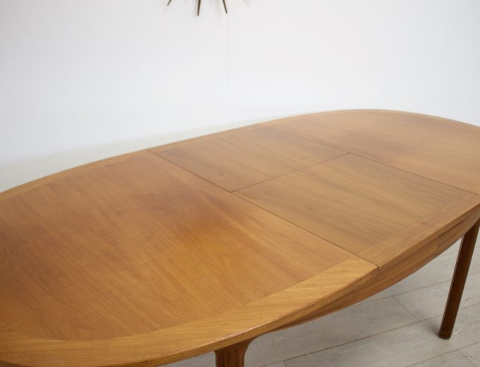 Mid Century Teak Extending Dining Table by Nathan #0272 6