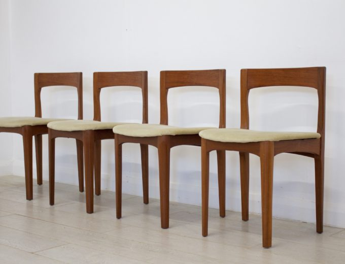 Mid Century Nathan Extending Dining Table & 4 Dining Chairs #0274 2