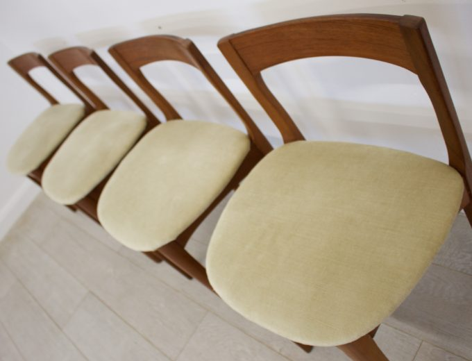 Mid Century Nathan Extending Dining Table & 4 Dining Chairs #0274 3