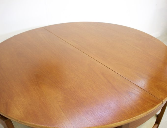 Mid Century Nathan Extending Dining Table & 4 Dining Chairs #0274 4