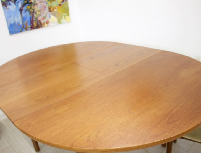 Mid Century Nathan Extending Dining Table & 4 Dining Chairs #0274 6