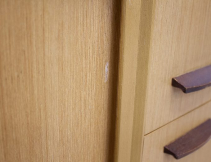 Mid Century Retro Light Teak Compact Sideboard #0297 3