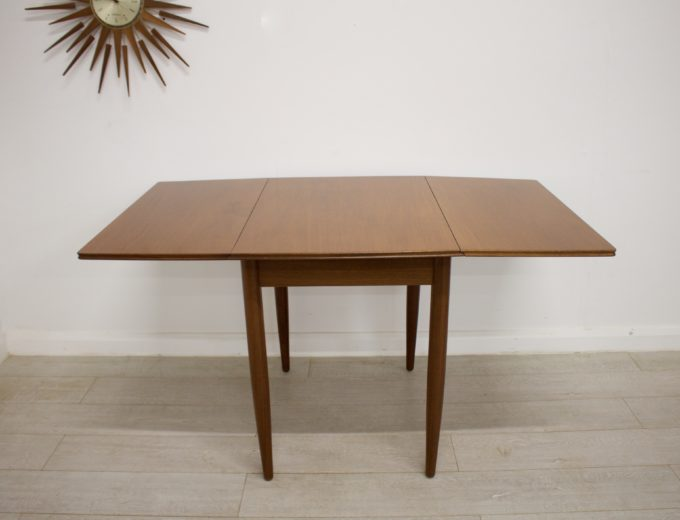 Mid Century Teak Danish Drop Leaf Dining Table #0304 0