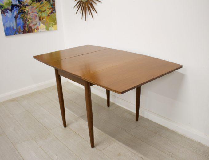 Mid Century Teak Danish Drop Leaf Dining Table #0304 1