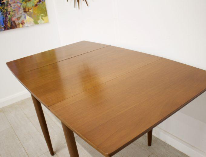 Mid Century Teak Danish Drop Leaf Dining Table #0304 2
