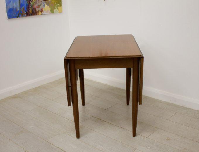 Mid Century Teak Danish Drop Leaf Dining Table #0304 5