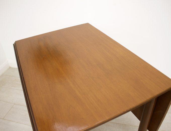 Mid Century Teak Danish Drop Leaf Dining Table #0304 7