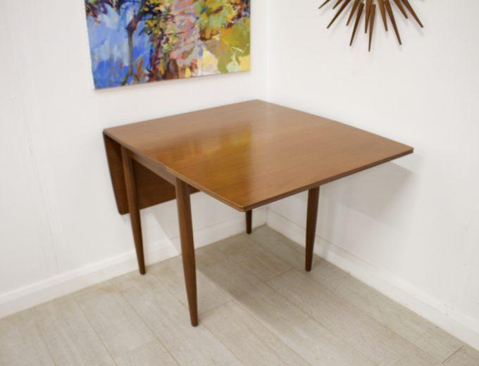 Mid Century Teak Danish Drop Leaf Dining Table #0304 8
