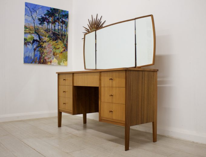 Mid Century Retro Teak & Walnut Vanson Dressing Table #0302 0