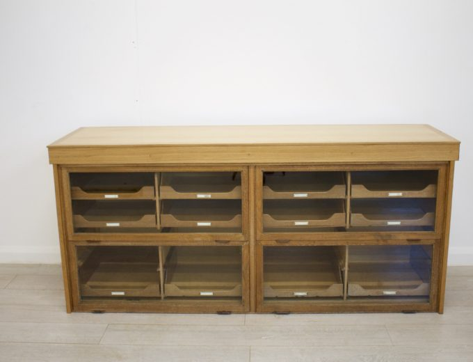 Antique Vintage Oak Haberdashery Cabinet 3