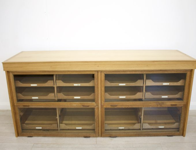 Antique Vintage Oak Haberdashery Cabinet 4