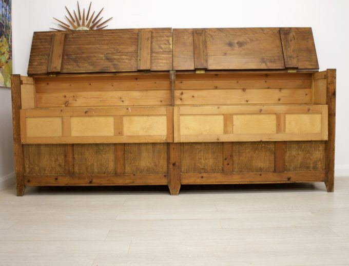 Antique Pitch Pine Shop Counter or Kitchen Island / Cupboard 3