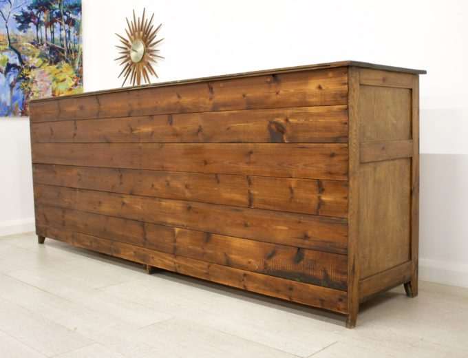 Antique Pitch Pine Shop Counter or Kitchen Island / Cupboard 4