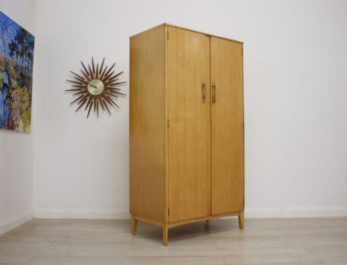 Mid Century Retro Vintage Oak Wardrobe by Remploy #0310 1