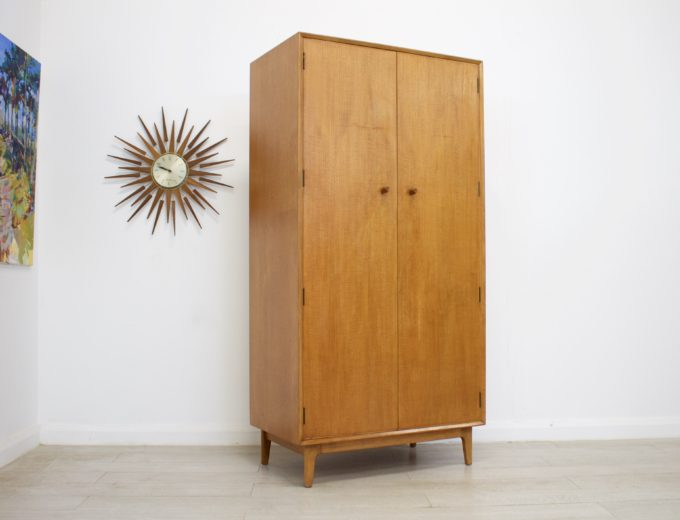 Mid Century Retro Teak & Walnut Gents Wardrobe by Gimson & Slater #0311 4