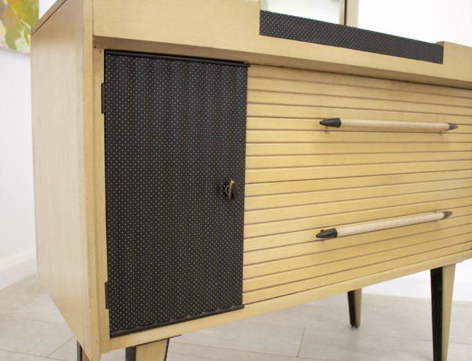 Mid Century Limed Oak Lebus Dressing Table Atomic Range #0314 2