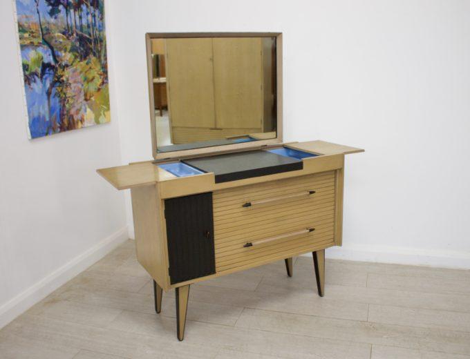 Mid Century Limed Oak Lebus Dressing Table Atomic Range #0314 5