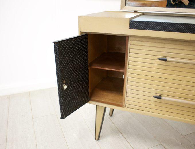 Mid Century Limed Oak Lebus Dressing Table Atomic Range #0314 8