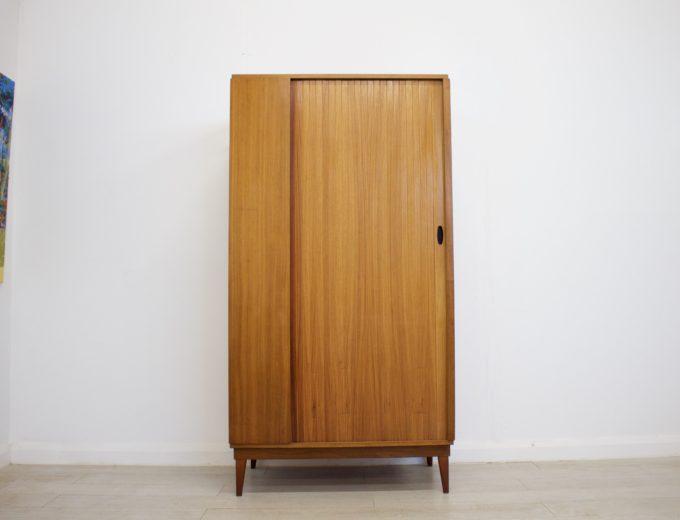 Mid Century Retro Teak Tambour Door Gents Wardrobe by Austinsuite #0316 0