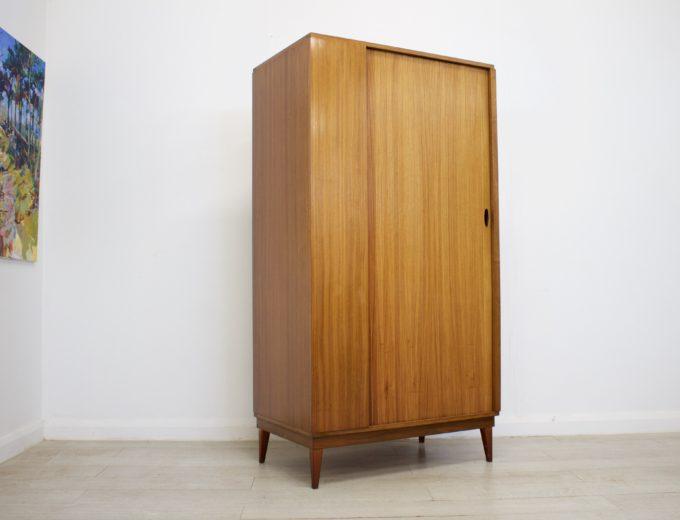 Mid Century Retro Teak Tambour Door Gents Wardrobe by Austinsuite #0316 2