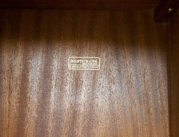 Mid Century Retro Teak Tambour Door Gents Wardrobe by Austinsuite #0316 5