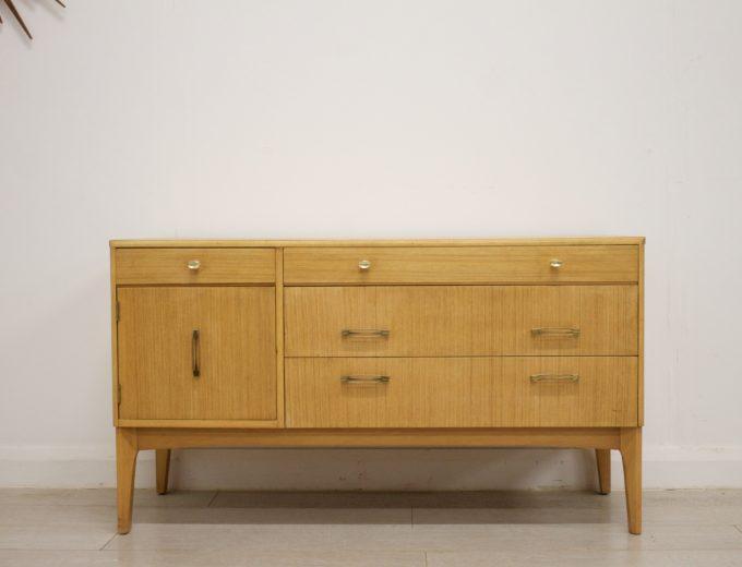 Mid Century Retro Oak Compact Sideboard #0326 0
