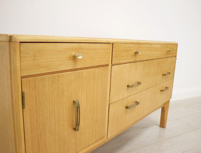 Mid Century Retro Oak Compact Sideboard #0326 2