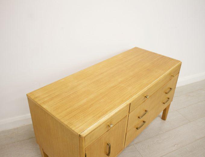 Mid Century Retro Oak Compact Sideboard #0326 3