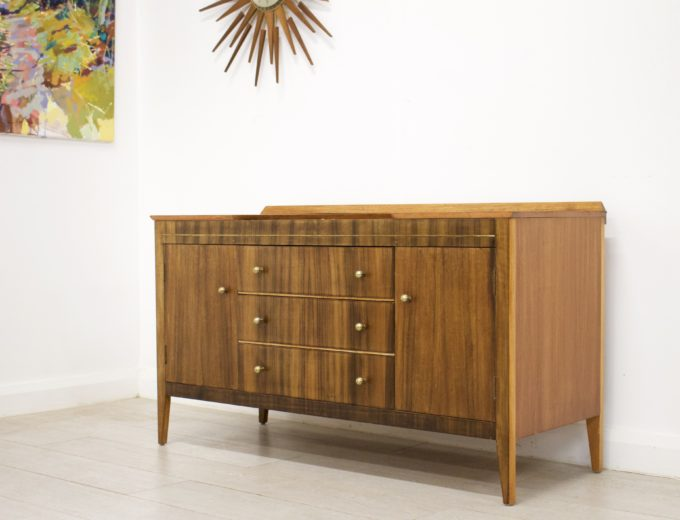 Mid Century Retro Walnut Dressing Table or Sideboard #0330 0