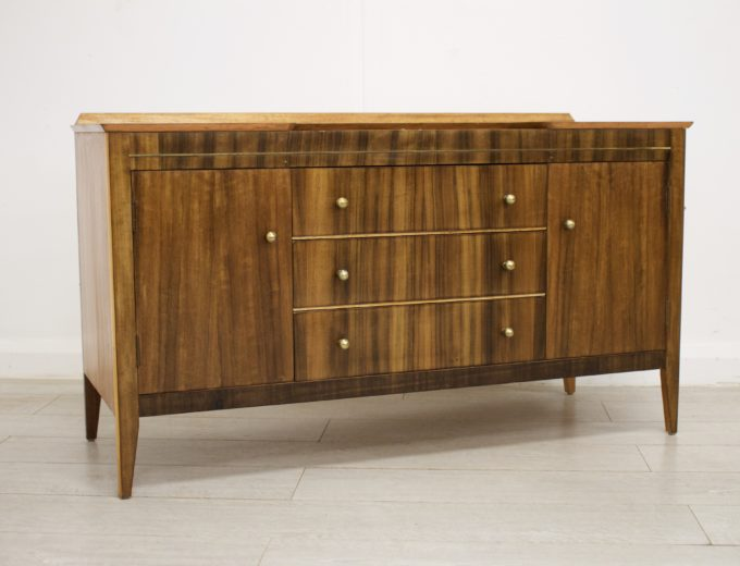 Mid Century Retro Walnut Dressing Table or Sideboard #0330 4