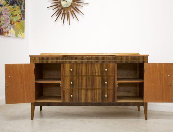 Mid Century Retro Walnut Dressing Table or Sideboard #0330 5