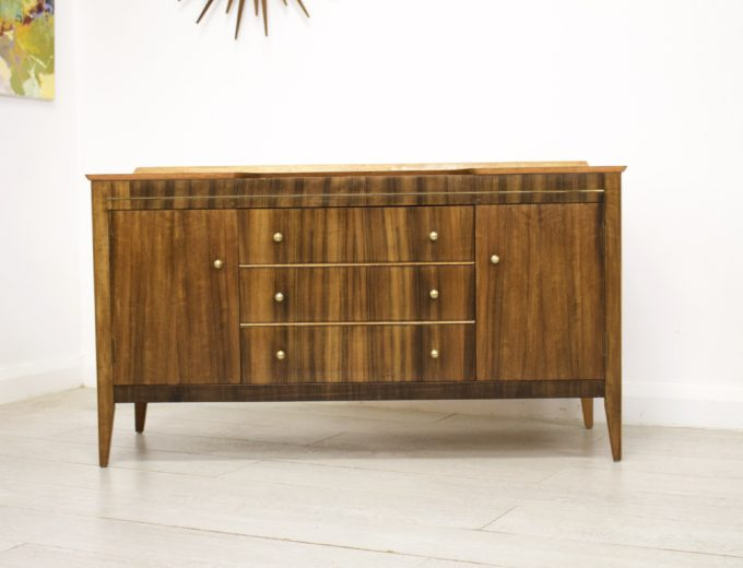 Mid Century Retro Walnut Dressing Table or Sideboard #0330 7