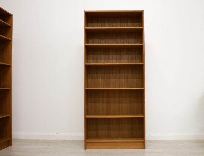 Mid Century Danish Teak Bookcase Domino Mobler (2 Available) #0343 #0344 3