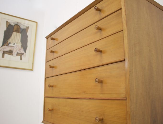 Mid Century Retro Walnut Tallboy Chest of Drawers by Alfred Cox #346 2