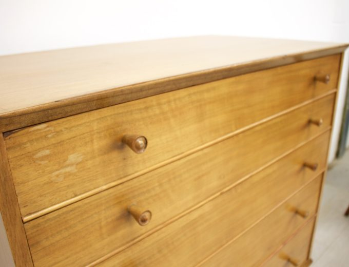 Mid Century Retro Walnut Tallboy Chest of Drawers by Alfred Cox #346 4