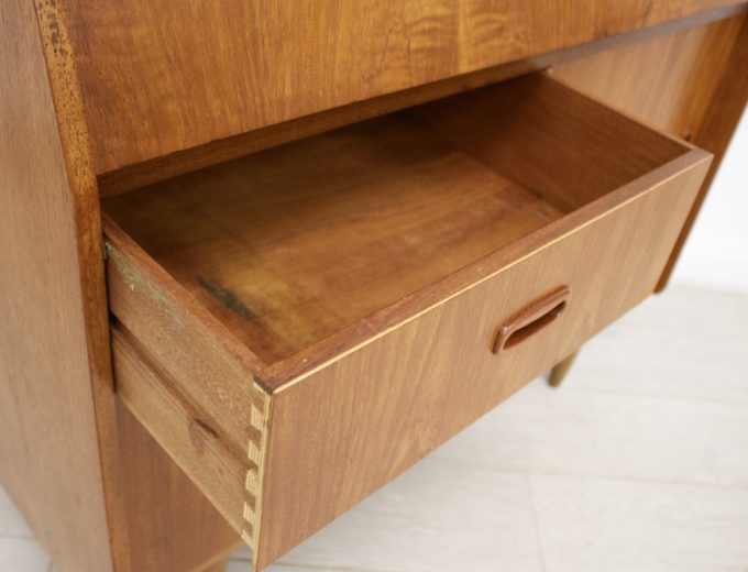 Mid Century Retro Teak Bureau Office Desk #0355 6